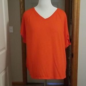 Orange short sleeve shirt NWOT